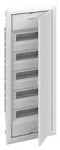 Rozvodnice pod omítku  60M plné dveře ocelo-plech (5řad) UK600 IP30