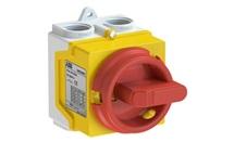 Odpínač 3P 20A ONE20M3Y IP67 žluto-červená