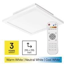 Svítidlo přisazené LED 20W 2700-6500K 1400lm 300x300 IP20 + ovladač