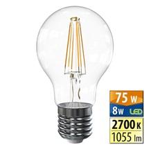 LED žárovka E27  8,0W 2700K 1055lm 360° Filament McLED