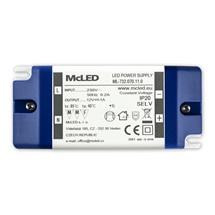 LED zdroj napájecí 12V DC   12W 1,0A plast IP20 svorkovnice McLED