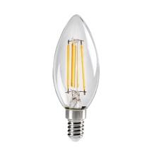 LED žárovka E14  4,5W 2700K 470lm 320° C35 Filament čirá XLED