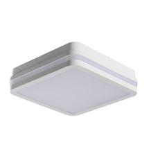 Svítidlo přisazené LED 18W 4000K 1550lm čtverec IP54 bílá senzor