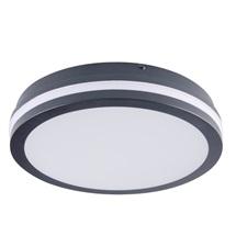 Svítidlo přisazené LED 24W 2700K 1880lm kruh IP54 grafit